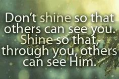 Shining for Jesus