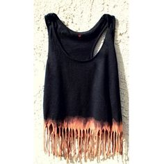 Etsy Transaction Crop Tank Boho Hippy Dip Dyed (Black, Small-Med) found on Polyvore featuring tops, shirts, tanks, dresses, hippy shirts, black singlet, bohemian shirts, black crop shirt and black tank top