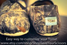 Mossy Oak Camo Toms LOVE! Want these!!!