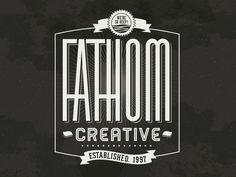 Fathom Logo Exercise - 1940s