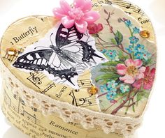 Decoupage jewellery box - this is so sweet!