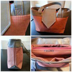 Le sac Madison de Marie P. Simili marron taupe et un coton à carreaux. https://www.facebook.com/elencrea ~ Patron Sacôtin