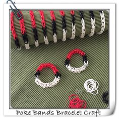 Pokemon party poke bands bracelet craft favor. No loom needed. from Rose's Notes