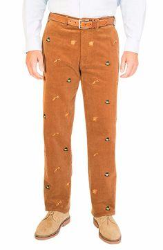 Beachcomber Corduroy Pant Chocolate With Turkey Hunt