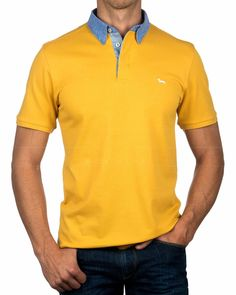 Polo HARMONT & BLAINE ® Cuello Camisero ✶ Mostaza | ENVÍO GRATIS Camisa Polo, Lacoste, Trendy Outfits, Men Dress, Polo Ralph Lauren, Polo Shirt, Fashion Looks, Mens Fashion, Mens Tops
