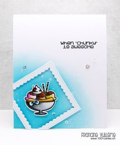 Card by Francine (www.1001cartes.ch) karte, carte, carterie, cardmaking, cardmaker,  crafts, papercrafts, handmade, diy, stamping, #1001cartes, froyo and friends, sweet stamp shop, #sweetstampshop, planner stamps, chunky, ice
