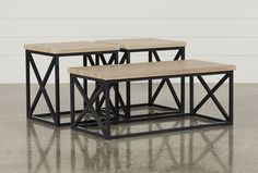 Helene 3 In 1 Pack Tables - Living Spaces  170