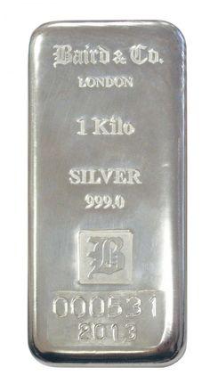 Baird 1 Kilo Silver Bar