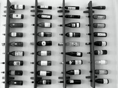 love this-with the holes angled down more for wine storage...sideways so you can read the labels