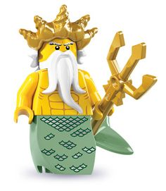 """Beware the wrath of the lord of the seas – and no splashing in the pool!"" Lego series 7 Ocean King"