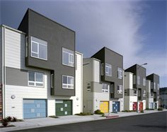 Multi-Generational Affordable Housing in San Francisco by David Baker + Partners Senior Apartments, Rental Apartments, Duplex, Townhouse, David Baker, Innovative Architecture, Contemporary Style Homes, Contemporary Houses, Contemporary Design