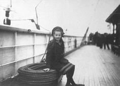 Grã-duquesa Tatiana Nikolaevna da Rússia a bordo do iate imperial Estrela Polar. 1907.