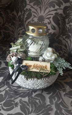 Funeral Flowers, Cemetery, Snow Globes, Home Decor, Party, Memorial Park, Decoration Home, Room Decor, Interior Decorating