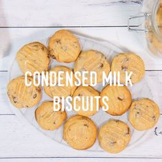 How to cook Condensed Milk Biscuits Easy Cookie Recipes, Sweet Recipes, Baking Recipes, Dessert Recipes, Easy To Cook Recipes, Mini Pie Recipes, Condensed Milk Biscuits, Condensed Milk Cookies, Sweets