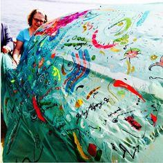 #whale #watching #boat  #santamonica  #beach #sea #interactiveart #installation  #ritual #silk #painting  #sandart  @gulayalpayart #artist #ocean #instaphoto #art #gallery  #modernart #instaart  #artist  #artblogger #losangelasart #londonart #natureart #oceanside  #artofvisuals #positivevibes  #collector #contemporaryart #galerist #londonart  #nyart by gulayalpayart