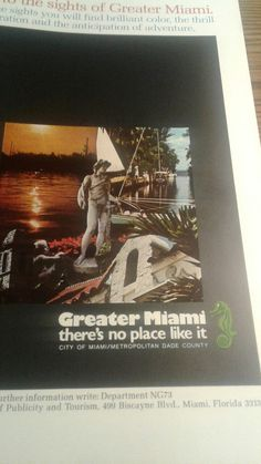 Miami Fl advertisement from National Geographic July 1973 edition