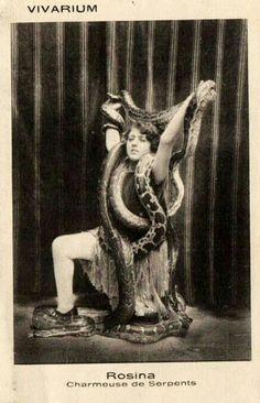 "Snake lady Rosina, ""Charmeuse de serpents"""