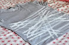 t-shirt decorated with fabric paint & toy truck :) another genious piece from lilla a