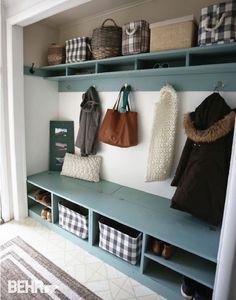 Attractive Mudroom In A Closet   DIY Projects