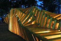 Art Installation and Original Urban Furniture: Bench 1000cm