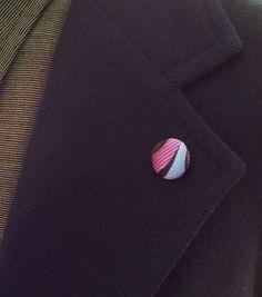 Men's Lapel Pin Button: Violet Blue Silk by empressbarrettes on Etsy https://www.etsy.com/listing/220794113/mens-lapel-pin-button-violet-blue-silk