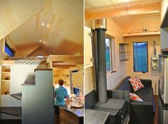 A 180 square feet tiny house on wheels constructed using structural insulated panels (SIPs) in Norfolk, Nebraska. Designed by Rocky Mountain Tiny Houses.
