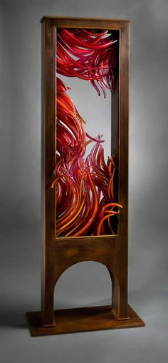 Crevice, 2011, glass sculpture by Shayna Leib