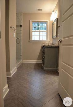 pink bathroom transformation flip house hall bathroom renovation, bathroom ideas, flooring, home improvement, tile flooring