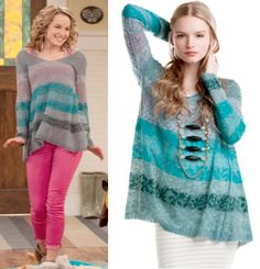 """Teddy Duncan (Bridgit Mendler) wears a Free People Candlelight Tunic in the color Grey in Good Luck Charlie Season 4 Episode 2 """"Doppel Date."""" #goodluckcharlie #disney #teddyduncan"""