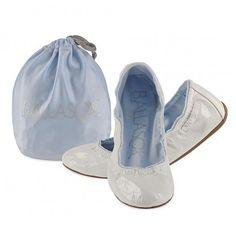 Corso Como, Prince Patent Leather Ballasox Stretch Flat in White Foil, $60