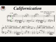 Californication - Red Hot Chili Peppers, Piano https://youtu.be/LoNl1-xLHRk