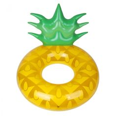 Make a statement on holiday with this inflatable Pineapple pool ring from Sunnylife. Made from PVC, it features a hole in the middle and head support for added comfort. Adorned with a fun pineapple de Inner Tube Float, Garden Games, Pineapple Design, Sunnylife, Pool Floats, House Of Fraser, Light Shades, Lampshades, Armband