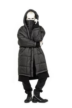 Visions of the Future // Barbara I Gongini black oversized coat for men, 924€