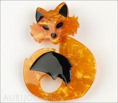 Erstwilder Fox Brooch Pin She's so Foxy Front