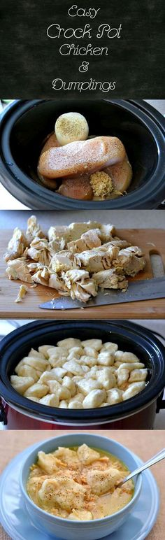 Easy Crock Pot Chicken and Dumplings
