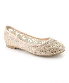 Another great find on #zulily! Champagne Sheer Stud Dana Flat #zulilyfinds