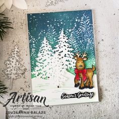 Stampin 'Up! Artisan Design Team Blog Hop: In the Pines - Zsu's Home Of Art