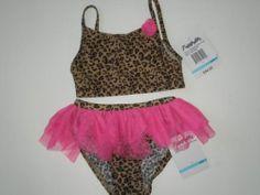 Girls Flapdoodles 2pc Leopard Print Swimsuit $34 Sz 5   eBay