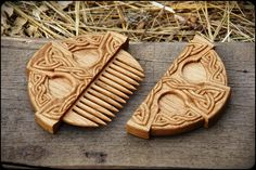 "Wooden Comb ""celtic Cross"""