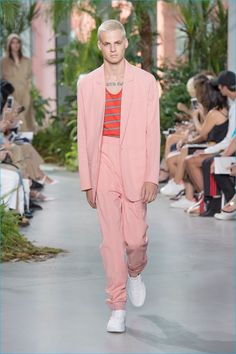 Lacoste gravitates towards summery colors for its oversized suiting.