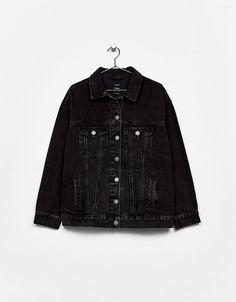 d0e7fb006fea Oversized denim jacket - New - Bershka Belgium