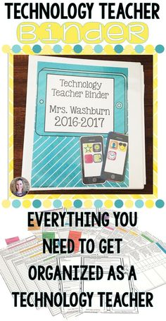 Are you a technology teacher? Are you as organized as you could be? This technology teacher binder includes every form you could ever need to plan, track, and grade your students.