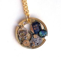 Doctor Who Necklace The Doctor's Daughter by TimeMachineJewelry