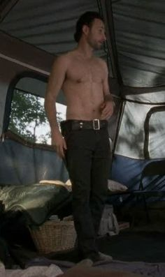 Andrew Lincoln - Rick Grimes on Walking Dead. I am very ok with him being shirtless while the world goes to shit.
