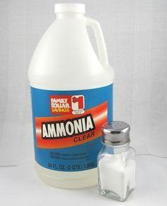 Patina finishes - ammonia and salt