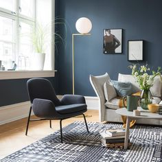This is the colour for my bedroom walls. Modern Home Interior Design, Modern Kitchen Design, Blue Rooms, Blue Walls, Home Living Room, Living Room Decor, Deco Blue, Living Room Inspiration, Interior Inspiration