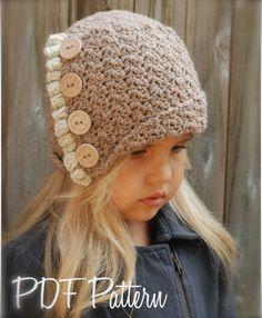 Jayleigh Cloche' Crochet pattern by The Velvet Acorn Knitting For Kids, Crochet For Kids, Knitting Projects, Crochet Projects, Knitting Patterns, Crochet Patterns, Bonnet Crochet, Crochet Beanie, Knitted Hats