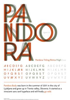 pandora titling ritmo/high/low sans serif typeface font by Verena Manyet