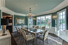 Teal Dining Rooms On Pinterest Dining Rooms Dining Room