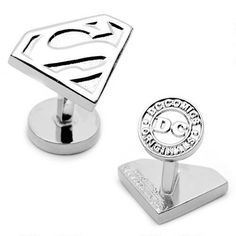 One of my favorite discoveries at WBShop.com: Superman Silver Shield Cufflinks